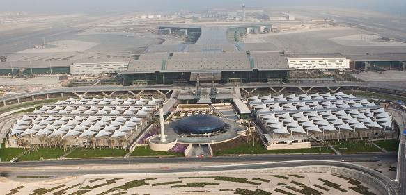 Aerial View of Hamad International Airport