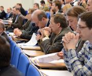 Teilnehmer an einem Anwendertreffen