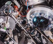 Atomfalle, in der 39Ar-Atome gefangen und nachgewiesen werden. (Foto: Florian Freundt, Institut für Umweltphysik, Universität Heidelberg)