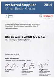 News: Chiron: Von Bosch mit dem Preferred Supplier Status ausgezeichnet