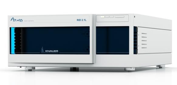 Auf der analytica stellt Knauer den neu entwickelten Brechungsindex-Detektor Azura RID 2.1L vor.