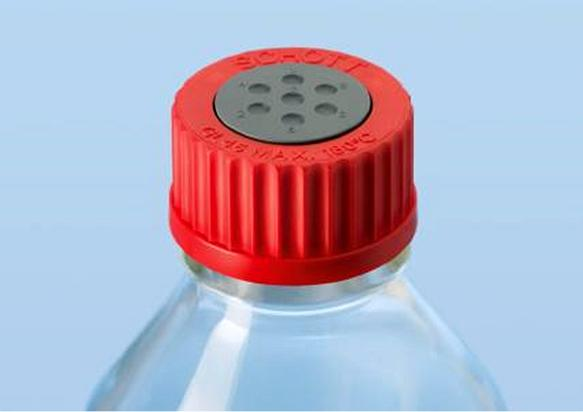 Laborflaschen: Mit gasdichtem Kautschuk-Stopfen