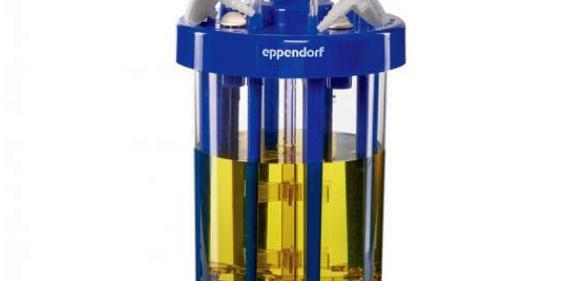 Neu im Einweg-Bioreaktoren-Programm von Eppendorf: Bioblu 3f für mikrobielle Bioprozesse mit Arbeitsvolumen von 1250...3750 ml.