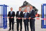 Zu Wasser: Rhenus eröffnet Container-Lagerfläche im GVZ Wilhelmshaven