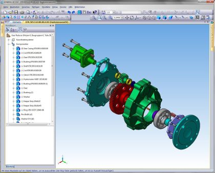 Konstruktion: 2D-/3D CAD-System für die Mechanik