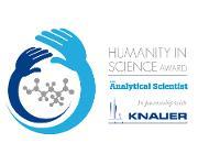 Humanity in Science Award - Partner ist 2017 das Unternehmen Knauer