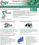 News: MGV Stromversorgungen: neue Website