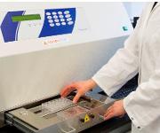 In der UV-Bestrahlungseinheit bestrahlen Fraunhofer-Forscher das Hautmodell mit einer definierten, nicht toxischen UV-Dosis. © Foto Fraunhofer IGB