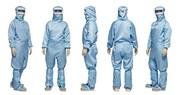 Reinraum-Anzug mit Visier: Optimierte Kontaminationsabsicherung und verbesserter Tragekomfort