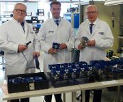 JUMO-Gesellschafter Juchheim mit Branchenmanager Wasser-Abwasser Matthias Kremer