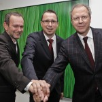 Knapps Powerteam: Hofer, Grabner und Wünscher.