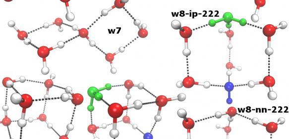 Die Wissenschaftler berechneten die Häufigkeit verschiedener Cluster von Wassermolekülen bei unterschiedlichen Temperaturen.