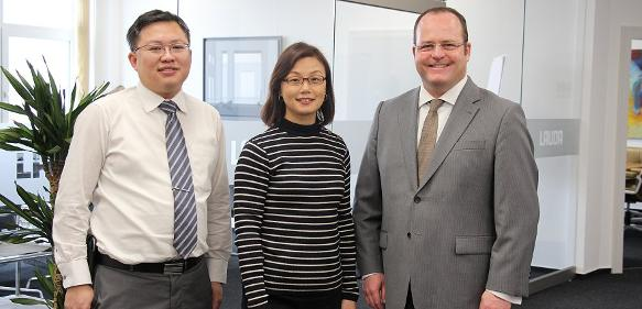 Teck Chia Lee, Janice Tan Boon Huang und Dr. Gunther Wobser