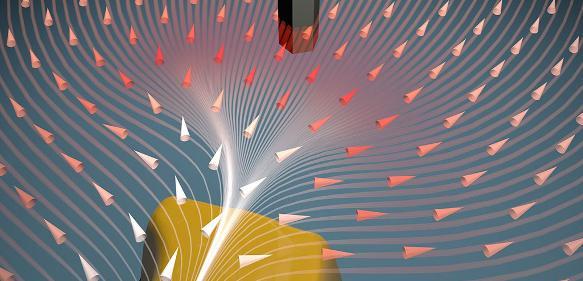 Ein Nanodraht-Sensor kann sowohl die Größe als auch Richtung von Kräften messen. (Bild: Universität Basel, Departement Physik)