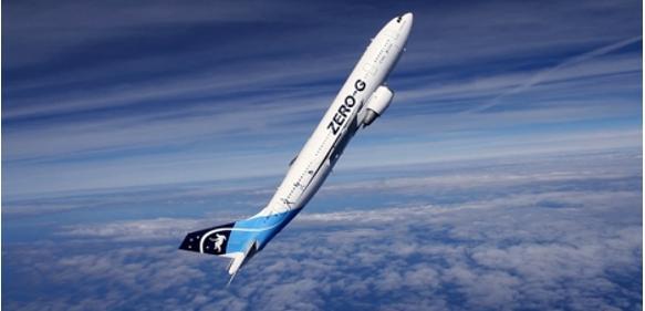 """Schwerelos forschen: Im Airbus """"A310 Zero-G"""" flog auch eine Versuchsanordnung der ETH Zürich mit. (Bild: UZH)"""