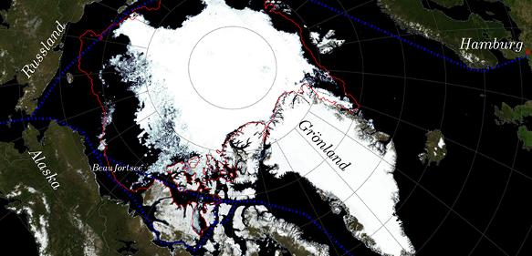Eisbedeckung Anfang September 2015