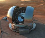 Riesenteleskop in der Wüste Atacamas. (Copyright: ESO/L. Calçada)