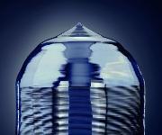 Abschmelzstelle eines Silizium-Einkristallstabs