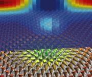 Magnetische Wirbel mit einem Durchmesser von nur wenigen Nanometern treten in einem dünnen Film aus Palladium und Eisen auf