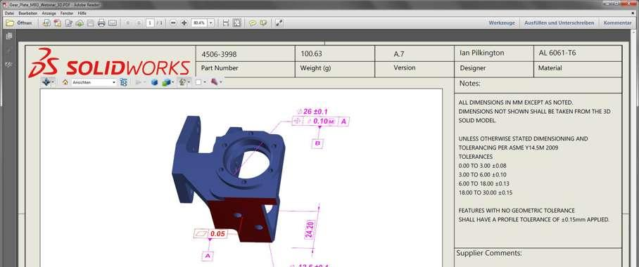 Solidworks Model Based Definition