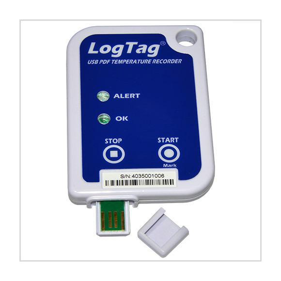 Temperaturdatenlogger mit integriertem USB-Anschluss.