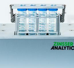 Zinsser Analytic GmbH hat den Vertikalschüttler ViMix entwickelt, der parallel mehrere Gefäße äußerst effizient durch eine 15 mm große Auf- und Abbewegung mit bis zu 1200 Schwingungen pro Minute durchmischen kann.