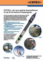 Zum Titelbild: FDO® 925 - der neue optische Sauerstoffsensor für die WTW MultiLine®-Taschengeräte