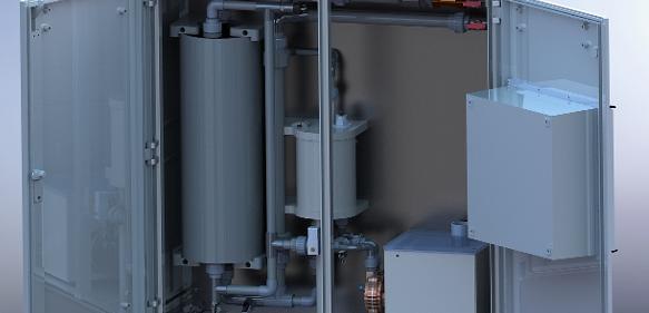 Die Kaltentgasungsanlage von ASA ermöglicht Prozesswasser-Aufbereitung mit geringem Energieverbrauch und Chemikalieneinsatz.