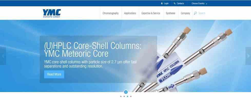 YMC-Homepage - HPLC-Applikationen; HPLC-Säulen; Flüssig-Chromatographie