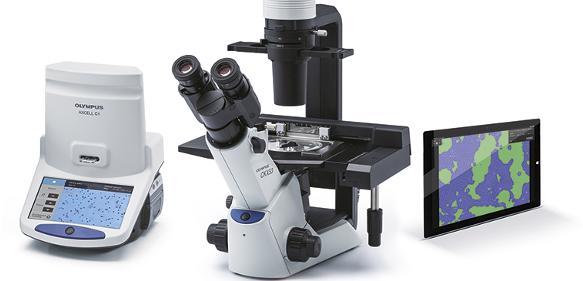 Die Software CKX-CCSW dient zur schnellen, exakten Ermittlung der Konfluenz und ergänzt das CKX53 Zellkultur-Mikroskop und den Zellzähler Modell R1.