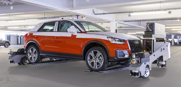 "Fahrerloses Transportsystem ""Ray"" Audi"