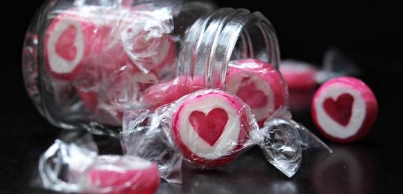 Bonbons in Kunststofffolie