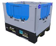 Mehr Nutzlast: Der neue Chep-Faltcontainer ist nicht nur effizienter sondern auch stärker. Er trägt jetzt 650 Kilogramm. (Foto: Chep)