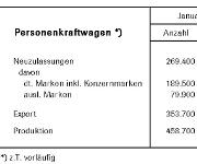 Verkäufe und Zulassungen im Bereich Pkw
