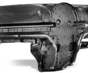 Der spitzgeschäumte Instrumententafelträger ist als Serienbauteil besonders leicht und biegesteif. (Bild: Sabic)