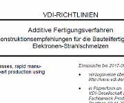 Ausschnitt aus der neuen Richtlinie zu additiven Fertigungsverfahren. (Bild: VDI)
