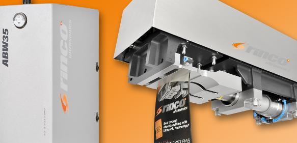 Die auf der diesjährigen Interpack in Düsseldorf vorgestellten Ultraschall-Schweißtechnik: Blister-Schweißgerät, Vorschub FPA und Ultraschall-Handtacker. (Bild: Rinco Ultrasonics)