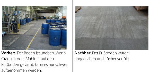 Beispiele für Maßnahmen zur Reduzierung von Granulatverlusten. (Bild: IK)