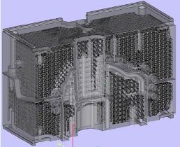Formeinsätze mit solchen Gitterstrukturen lassen sich nur im 3D-Druck realisieren. Dass das Werkstück dank der Volumenreduzierung leichter ist als konventionell produzierte, ist offensichtlich.