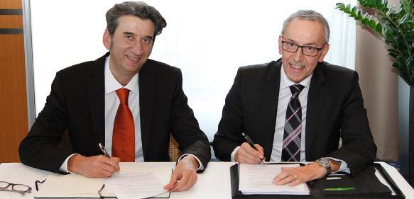 Davide Rivi (links) und Hans-Joachim Molka sind Geschäftsführer der Römheld Rivi GmbH.