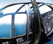 Modell einer Fahrzeugstruktur aus leistungsfähigen Composites. (Bild: Byk)
