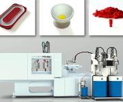 Dosier- und Werkzeugtechnologie für die Verarbeitung von Flüssigsilikonkautschuk bieten mehr Möglichkeiten: 2K-Druckspeichermembrane (oben links), zweifarbiger Eierbecher oben Mitte, Einzeldrahtabdichtungen. (Bild: Elmet)