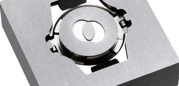 Erodierpolierte Kavität für das Spritzen von Uhrengehäusen. (Bild: Leonhardt)