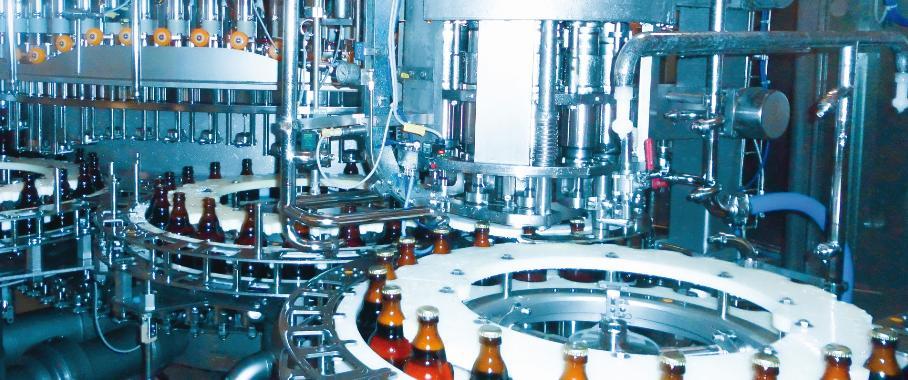 Abfüllung der 0,33-Liter-Steinie-Flaschen: