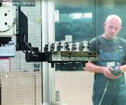 Teleskophub-Arm Roboter