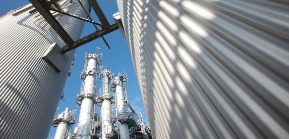 Chemieanlage bei Evonik