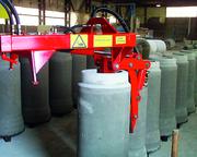 Flurförderzeuge: Stahlbeton-Falzrohre sicher umgelegt