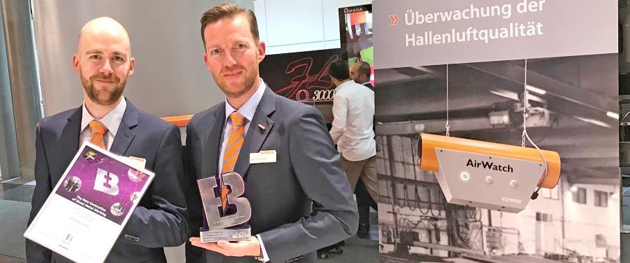 "Kategorie ""Saubere Technologien"": Kemper gewinnt Euroblech-Award mit Airwatch"
