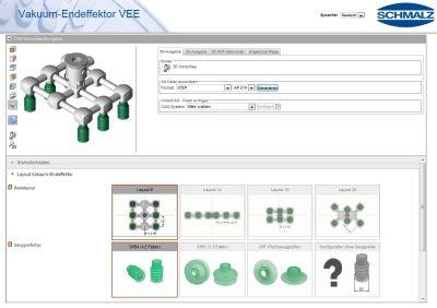 Online-Software: Endeffektoren selbst konfigurieren