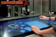 Zaubertisch: Laborbank mit integriertem Touchscreen